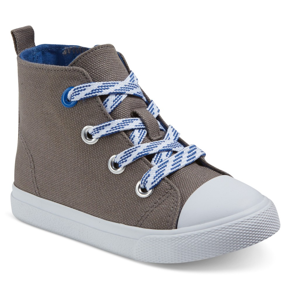 Toddler Boys Cade Hi-Top Sneakers Cat & Jack Grey 5, Gray