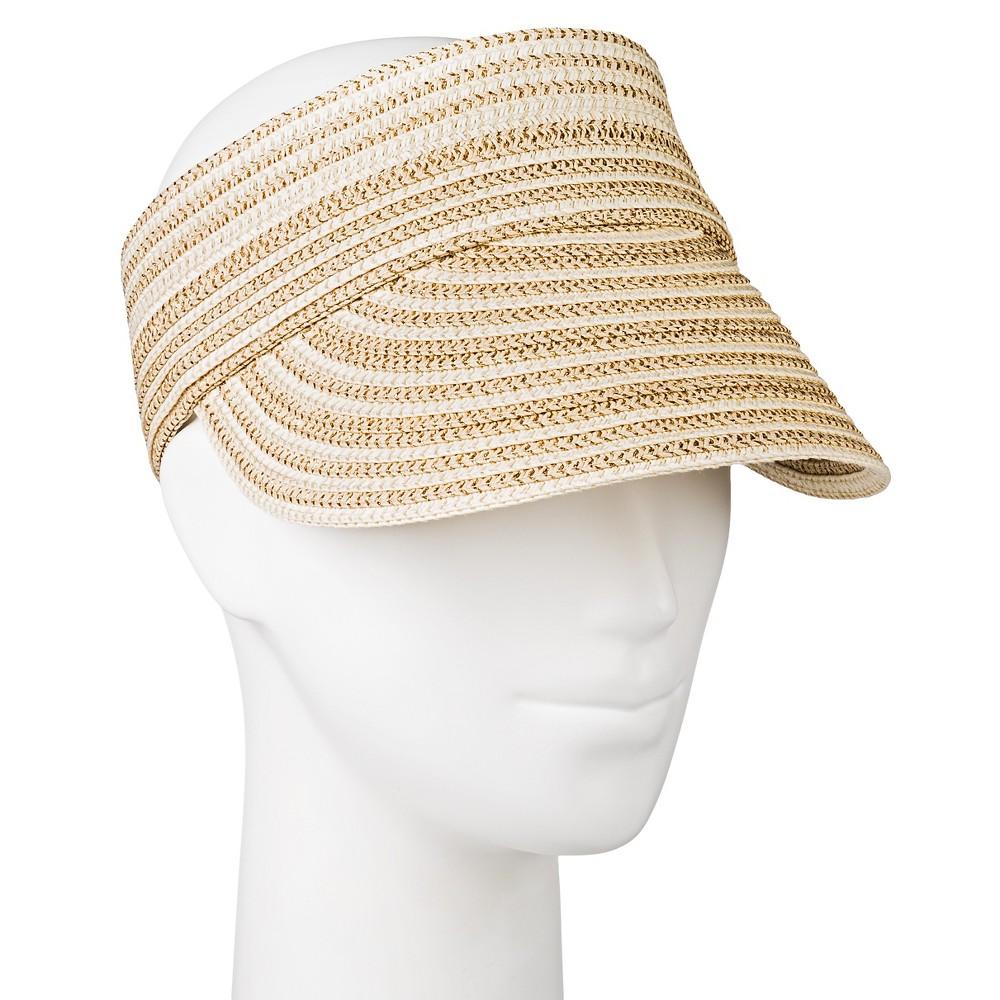 Womens Lurex Visor Hat - Merona, Tan
