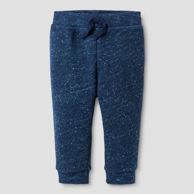 Baby Boys' Jogger Pants - Cat & Jack™ Navy with Turq Neps 3-6 M