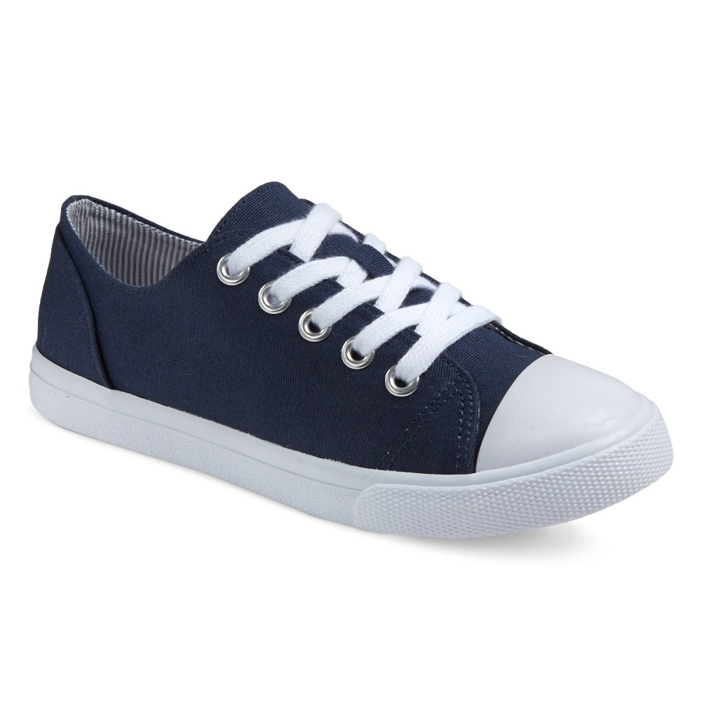 Girls Brielle Cap-Toe Sneakers Cat & Jack - Navy (Blue) 1