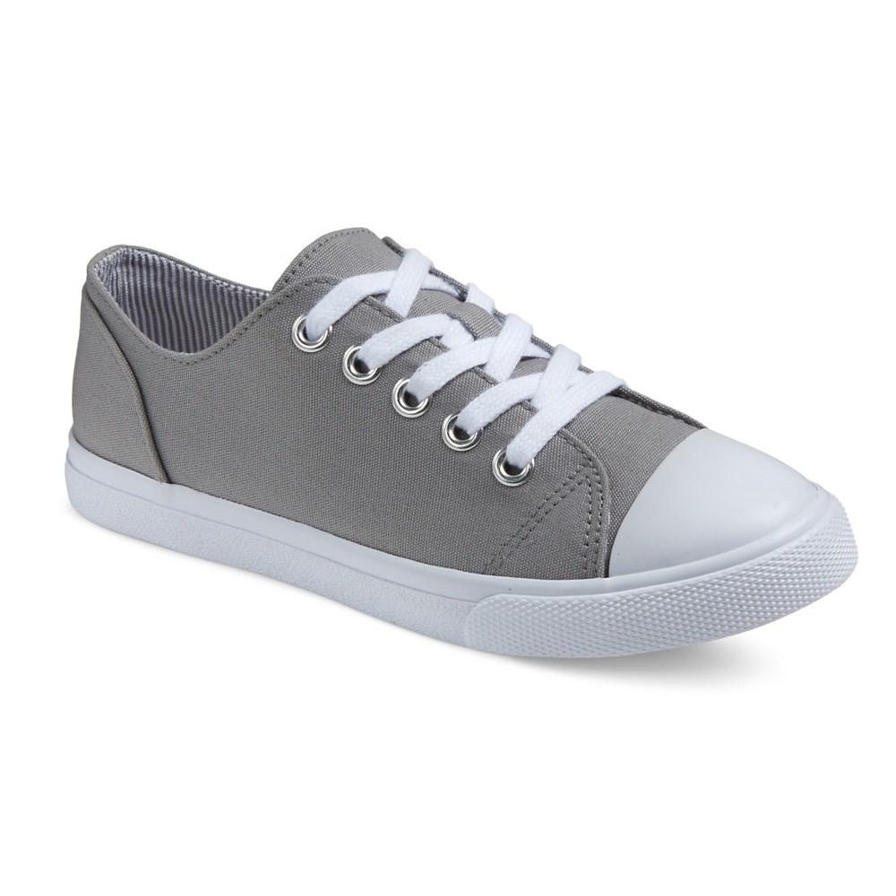 Girls Brielle Cap-Toe Sneakers Cat & Jack - Gray 1