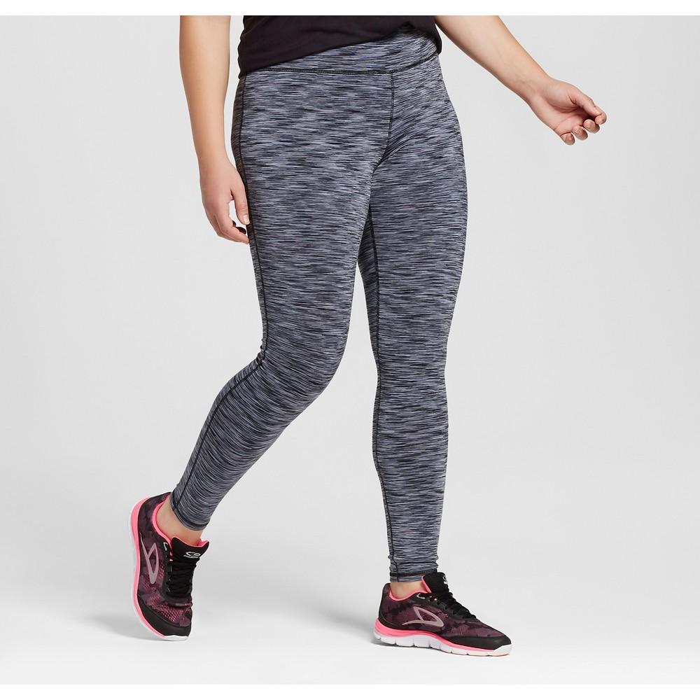 Womens Plus-Size Freedom Spacedye Leggings - C9 Champion Quartz Gray 1X, Black