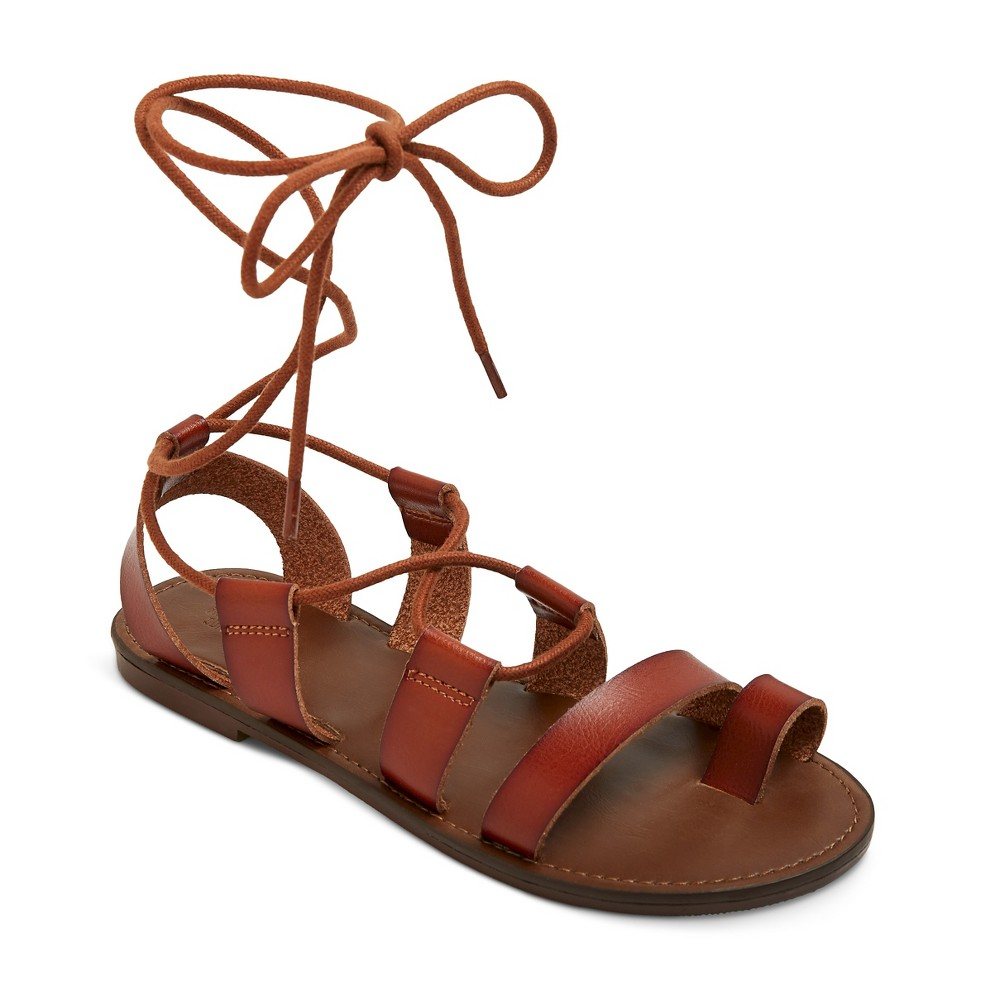 Womens Lilac Gladiator Sandals - Mossimo Supply Co. Cognac (Red) 8.5