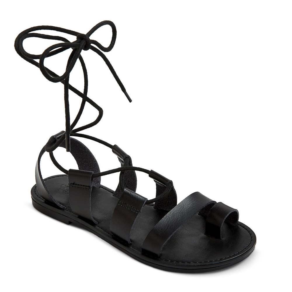 Womens Lilac Gladiator Sandals - Mossimo Supply Co. Black 5.5