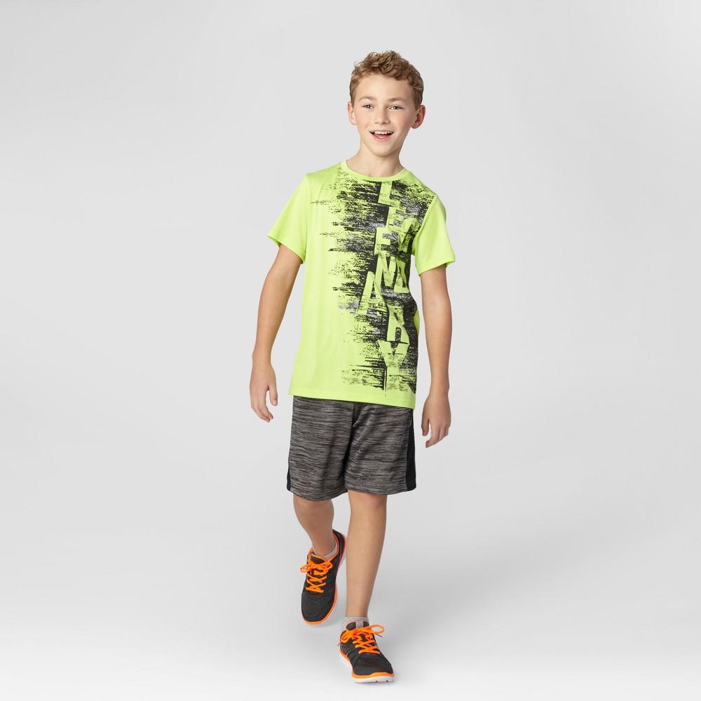 Boys' Graphic Tech T-Shirt Neon Green S C9 Champion - Legendary
