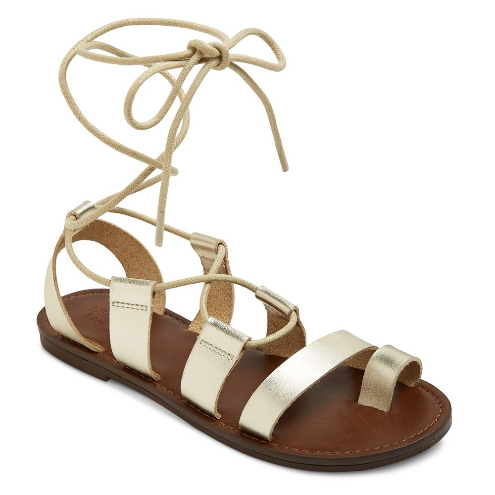 Womens Lilac Gladiator Sandals - Mossimo Supply Co. Gold 6.5