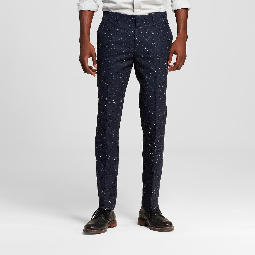 Men's Suit Pants Classic Navy (Blue) 34X30 – WD-NY Black