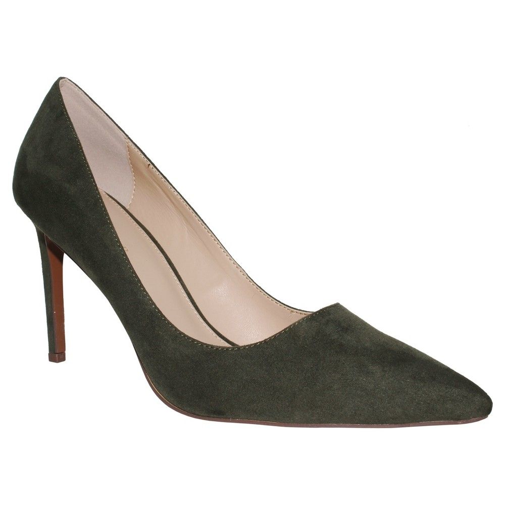 Womens Ally Microsuede Pumps Who What Wear - Green 7