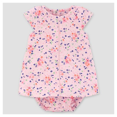 Baby Girls' Floral Sunsuit - Just One You™ Made by Carter's® Light Pink 9M