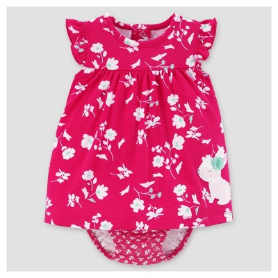 Baby Girls' Bunny Sunsuit - Just One You™ Made by Carter's® Pink 3M