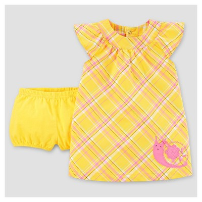 Baby Girls' Snail Dress - Just One You™ Made by Carter's® Yellow/Pink 3M