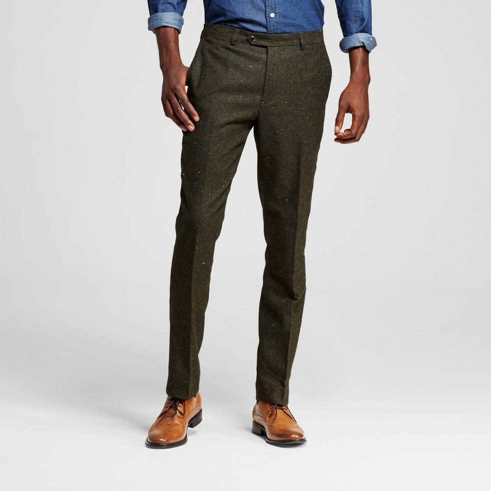 Men's Suit Pants Evergreen 40X32 – WD-NY Black, Green