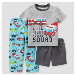 Toddler Boys' 3pc Vehicles Pajama Set - Just One You™ Made by Carter's® Gray