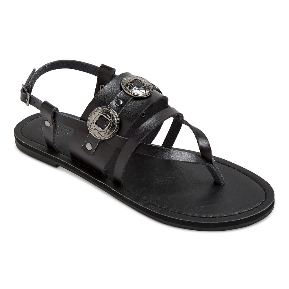 Womens Sonora Thong Sandals - Mossimo Supply Co. Black 7.5