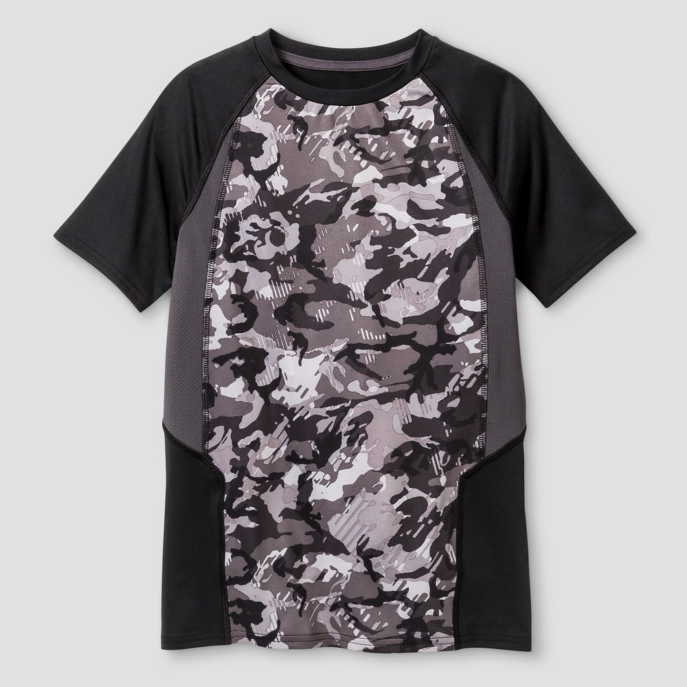 Boys Novelty Compression Shirt - C9 Champion Gray XL