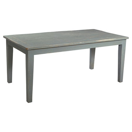"Hamptons 70"" Rectangular Dining Table - Distressed Grey Green - Christopher Knight Home"