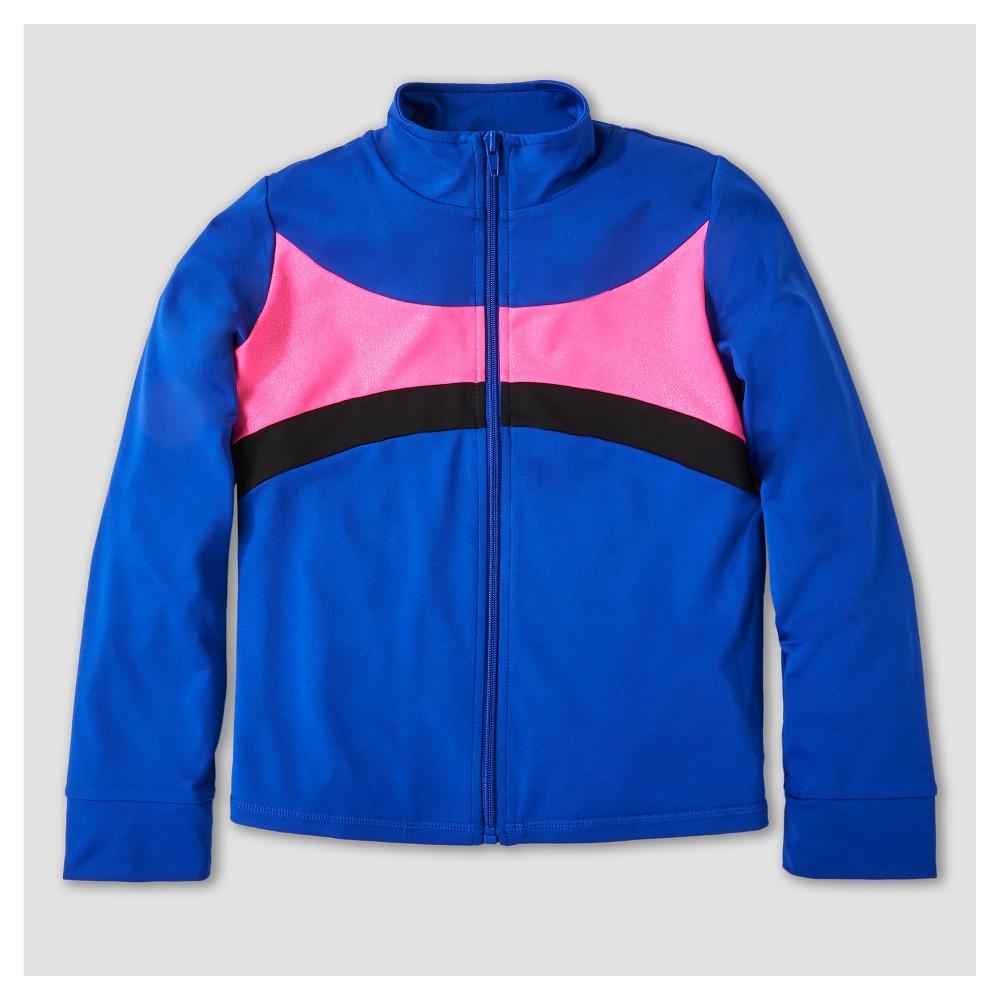 Freestyle by Danskin Girls Activewear Track Jackets - Blue M