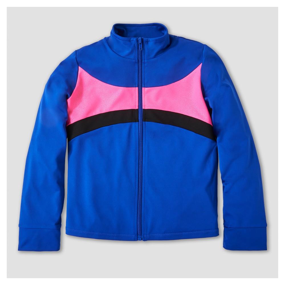 Freestyle by Danskin Girls' Activewear Track Jackets - Blue L
