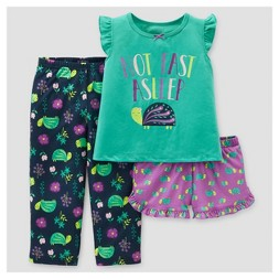 Baby Girls' 3pc Turtles Pajama Set - Just One You™ Made by Carter's®