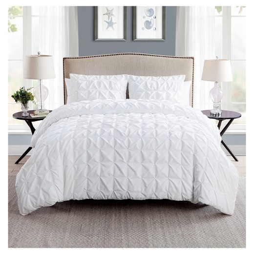 White Madison Duvet Cover Set King 3 Piece Vcny Target