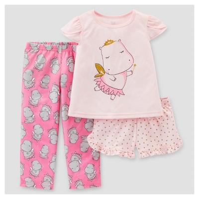7e2532899e28 Toddler Girls 3pc Hippos Pajama Set – Just One You™ Made by Carters ...