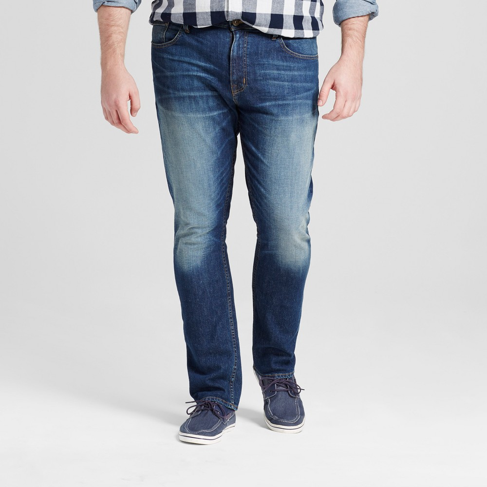 Mens Big & Tall Slim Fit Jeans - Mossimo Supply Co. Medium Wash 50x30, Blue