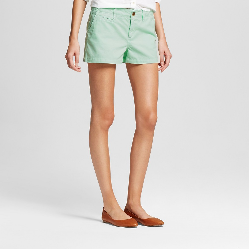 Womens 3 Chino Shorts Mint (Green) 18 - Merona