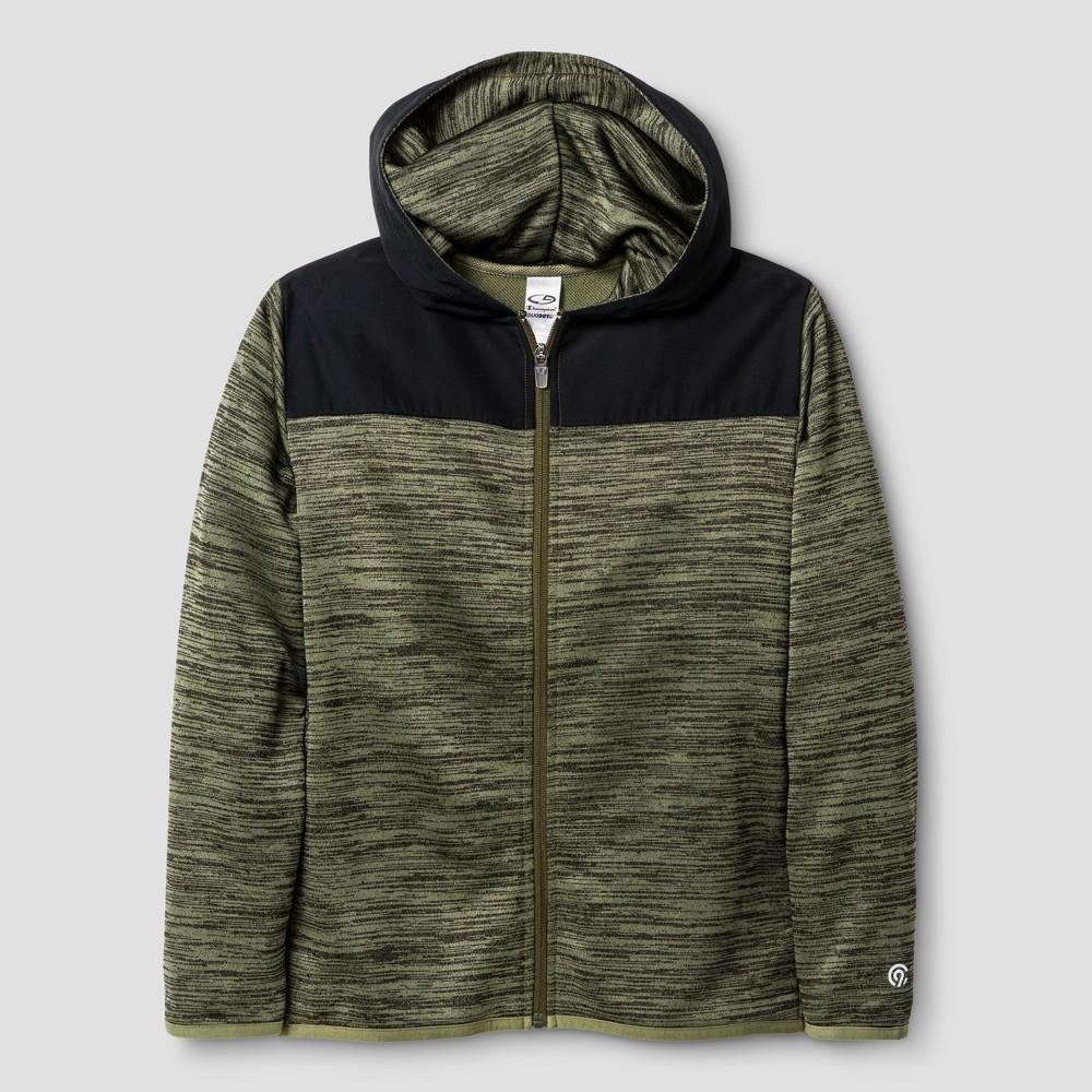 Boys Spring Fleece Full Zip Hoodie - C9 Champion Green XL