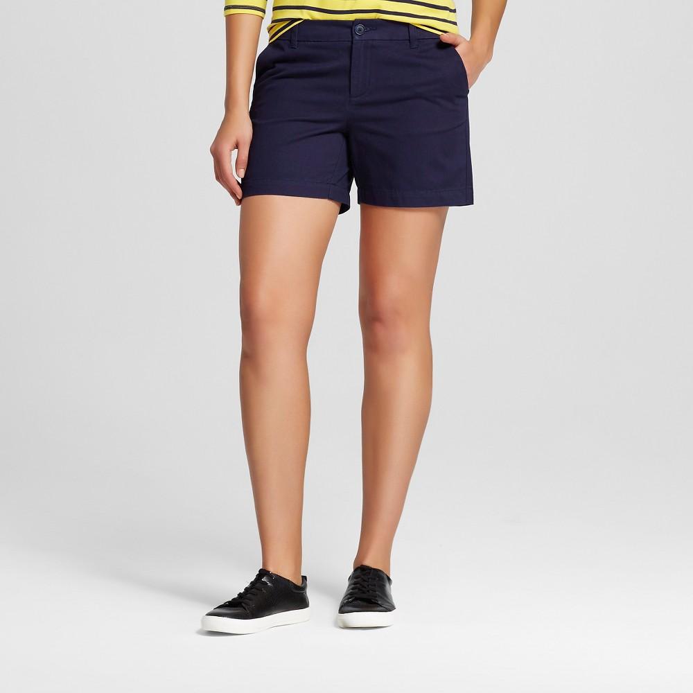 Womens 5 Chino Shorts Navy (Blue) 6 - Merona