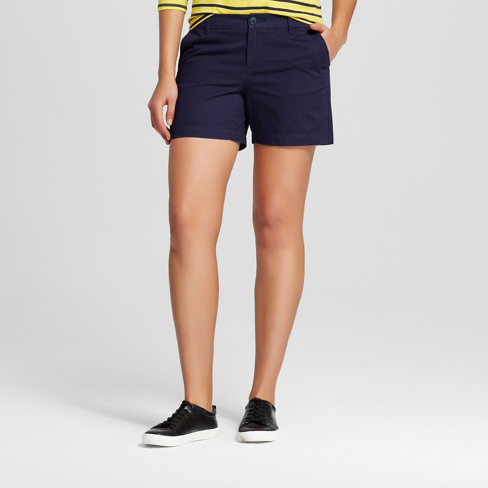 Womens 5 Chino Shorts Navy (Blue) 8 - Merona