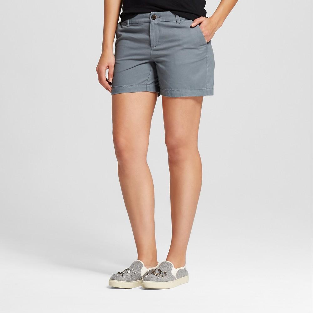 Womens 5 Chino Shorts Gray 18 - Merona