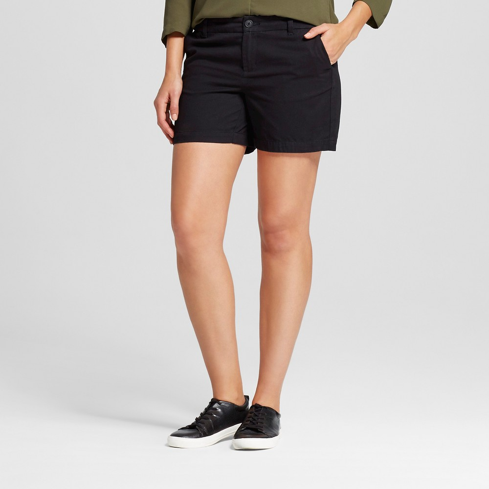 Womens 5 Chino Shorts - Merona Black 2