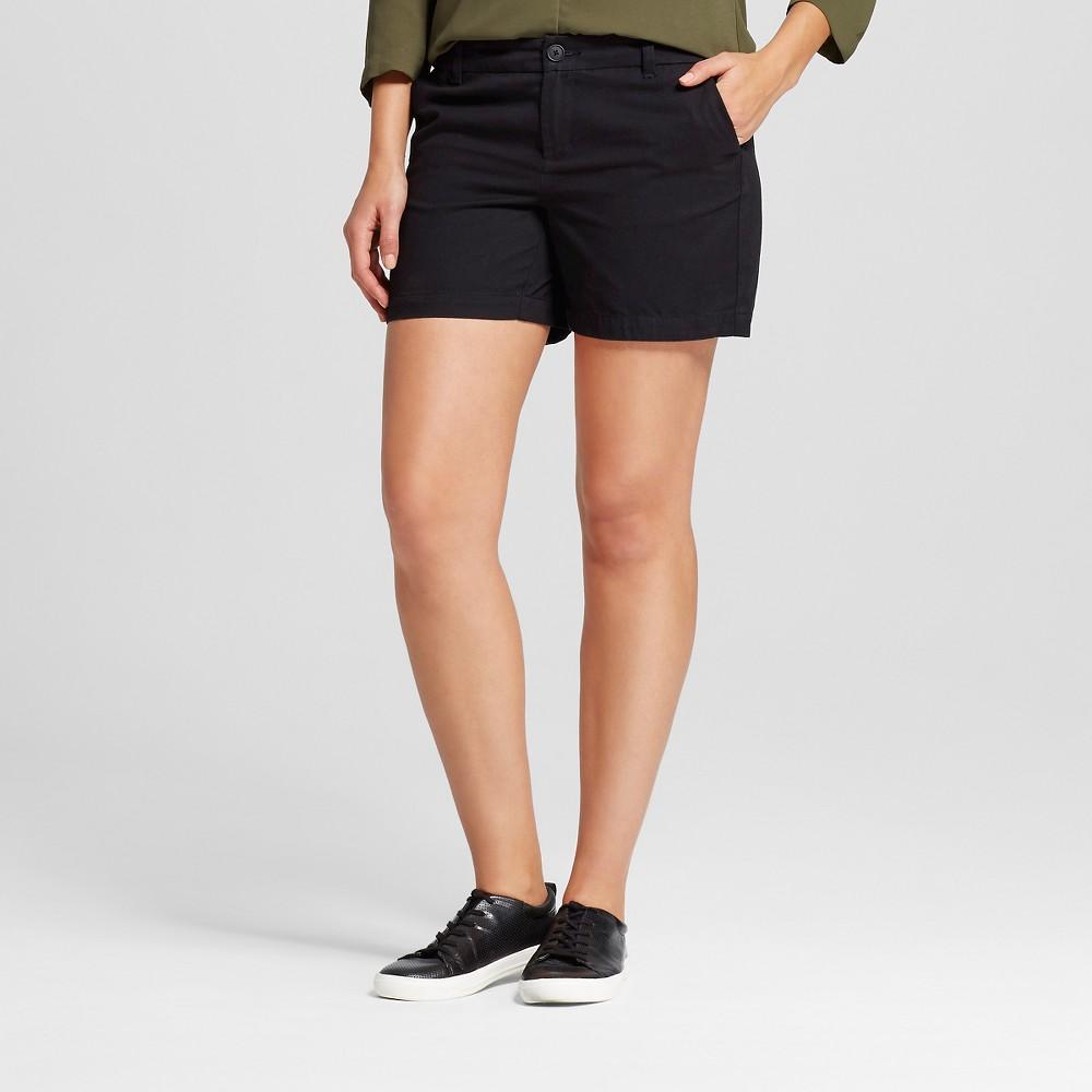 Womens 5 Chino Shorts - Merona Black 18