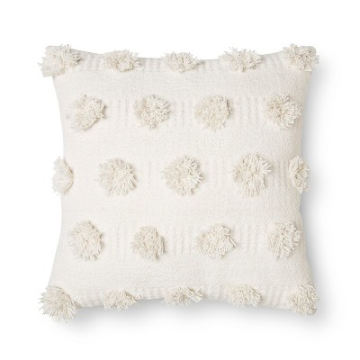 Cream Pom Dot Square Throw Pillow (18 x18 )- Nate Berkus™