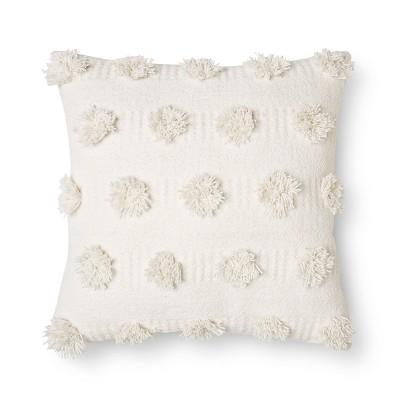 Cream Pom Dot Square Throw Pillow (18 x18 )- Nate Berkus™