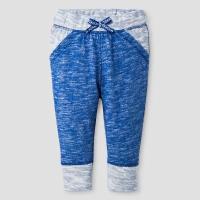 Baby Girls' Texture Jogger Pants - Cat & Jack™ Uniform Blue 3-6 M