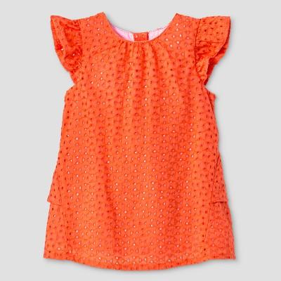 Baby Girlsu0027 Eyelet Dress   Cat U0026 Jack™ Coral
