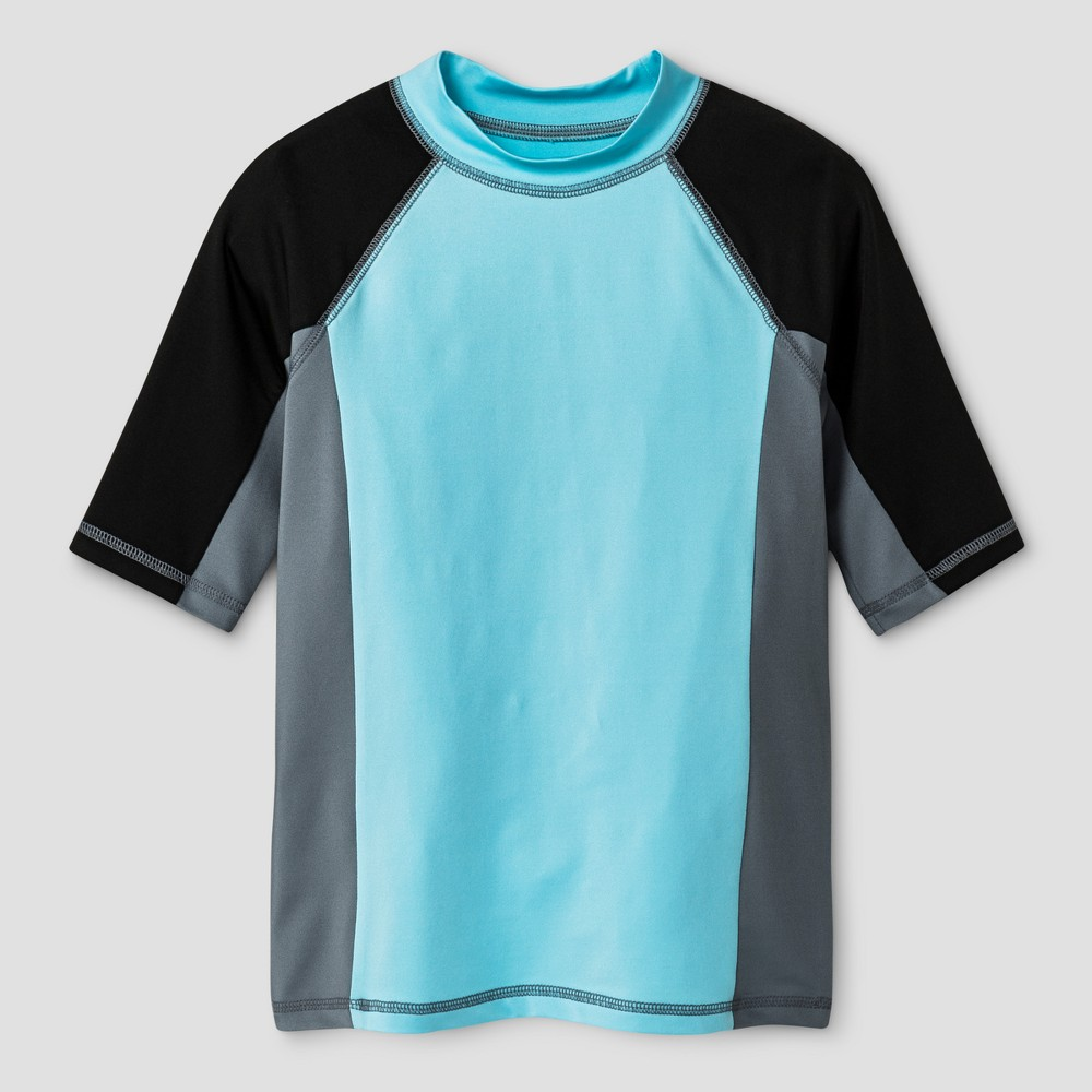 Boys Rash Guard - Cat & Jack Blue M Husky