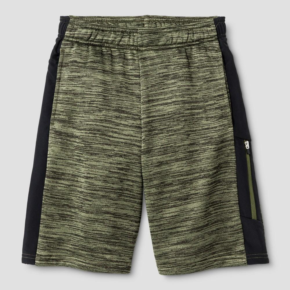 Boys Spring Fleece Training Shorts Green S - C9 Champion