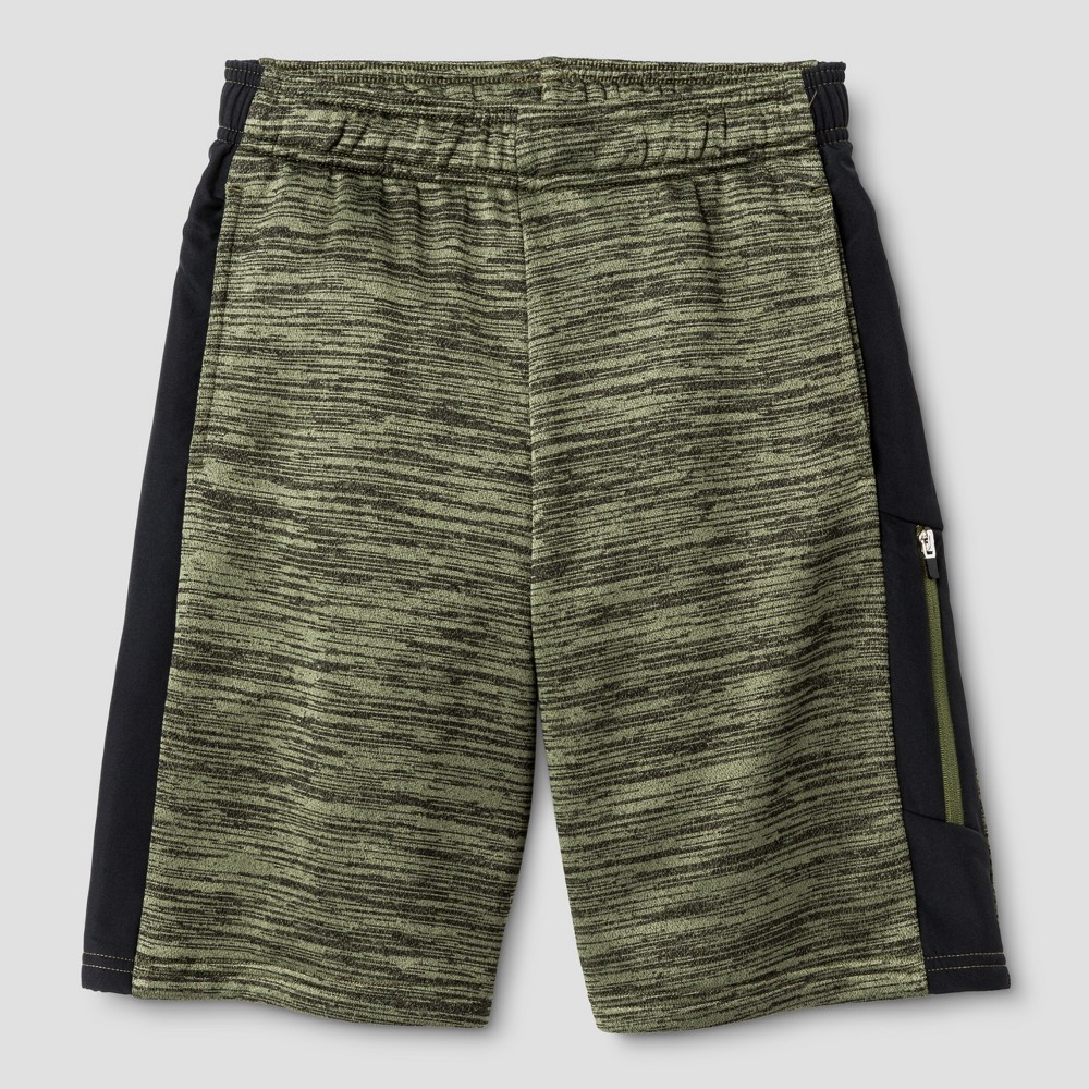 Boys Spring Fleece Training Shorts - C9 Champion Green L