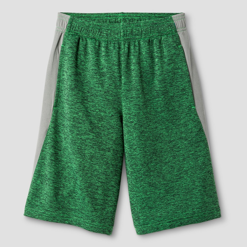Boys Heather Training Shorts - C9 Champion Green Heather L