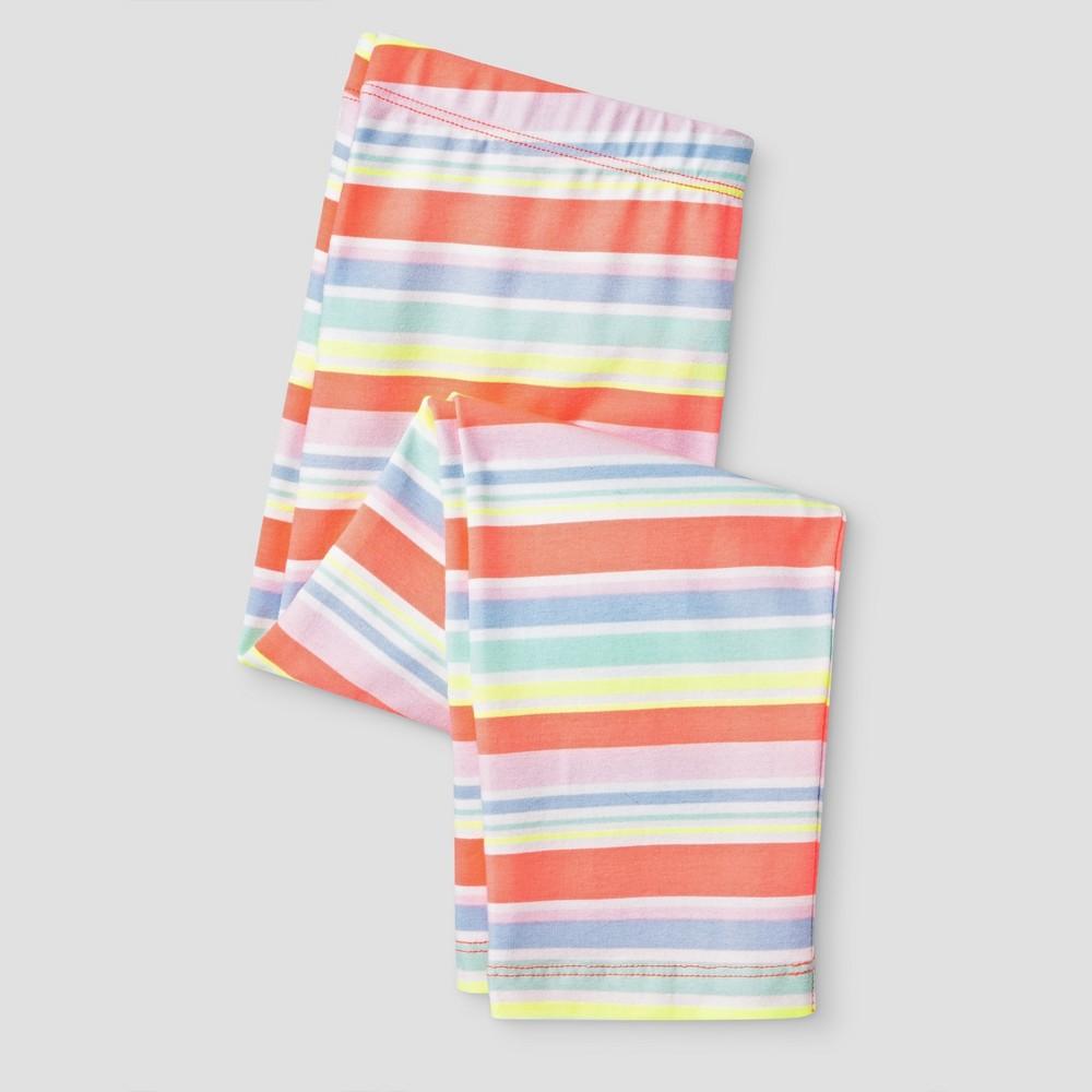 Girls Multi Stripe Capri Leggings Pant - Cat & Jack Multi Colored XS, Multicolored