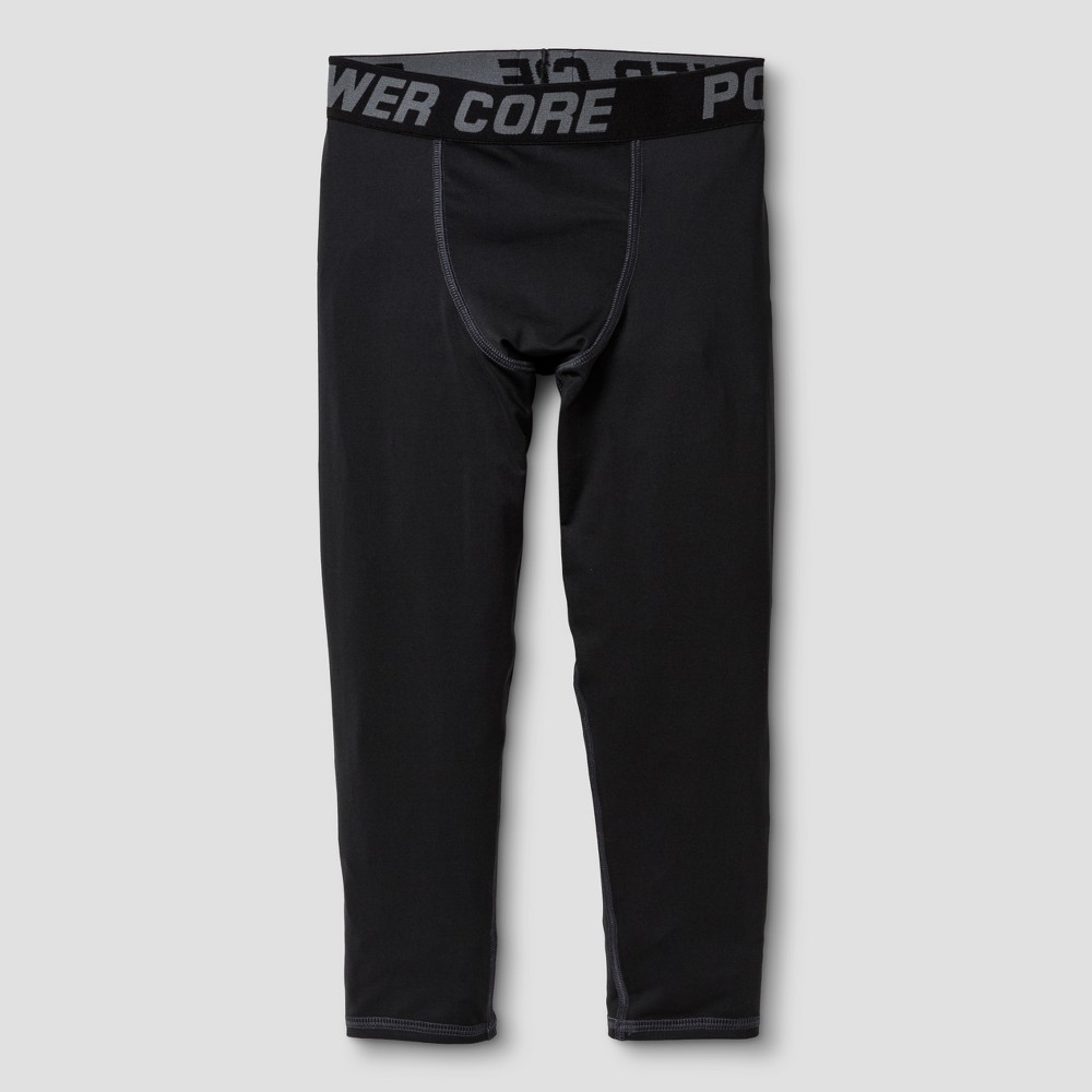 Boys Power Core Compression 3/4 Tights - C9 Champion Black L