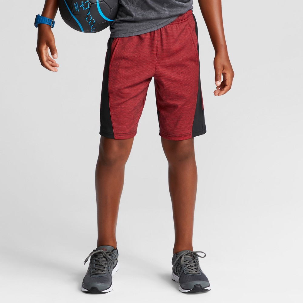 Boys Textured Knit Shorts - C9 Champion Red S