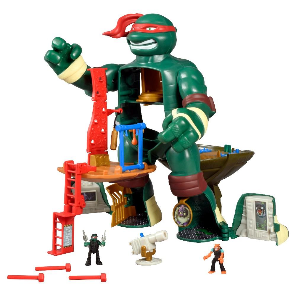 Teenage Mutant Ninja Turtles Micro Mutants Raph's Train & Battle Playset, Multi-Colored