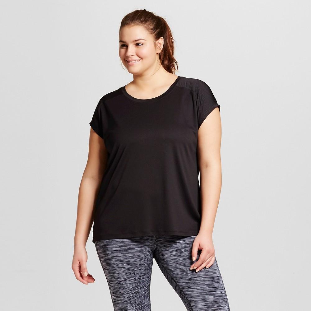 Womens Plus-Size Vent Run T-Shirt - C9 Champion Black 2X