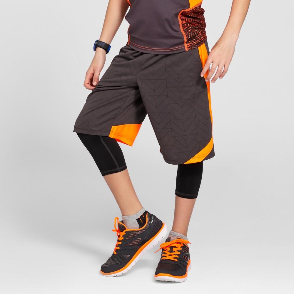 Boys Novelty Basketball Shorts Charcoal (Grey) Gray M - C9 Champion