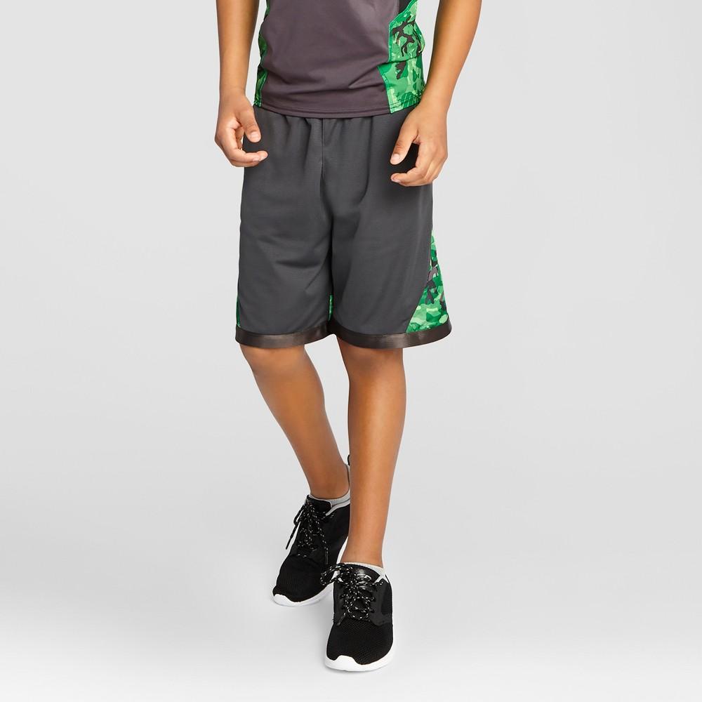 Boys' Printed Training Shorts - C9 Champion Charcoal (Grey) S