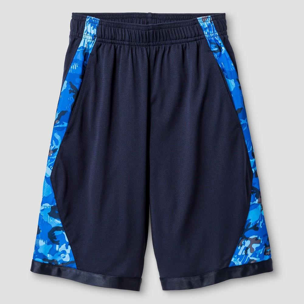 Boys' Printed Training Shorts - C9 Champion Navy (Blue) L