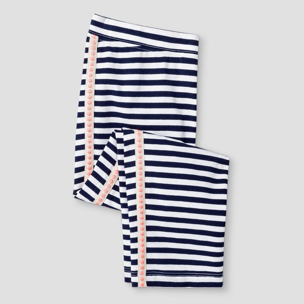 Girls Stripe With Side Tape Capri Leggings Pant Cat & Jack - Navy Xxl, Blue